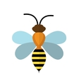 Bee icon isolated on white background vector image vector image