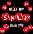 black friday sale balloon concept of discount vector image vector image