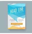 Book Flyer Placard Template vector image vector image