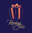 boxing day sale of a square banner or card vector image vector image