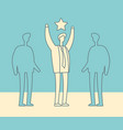 businessman with winner star vector image vector image