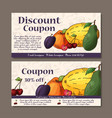 cafe discount voucher for your business modern vector image vector image