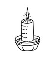 candle icon doodle hand drawn or outline icon vector image vector image