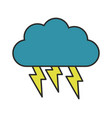cloud icon with lightning vector image vector image