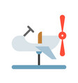 coin operated airplane icon amusement park vector image vector image