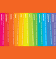 creative calendar 2019 with irregular stripes vector image vector image