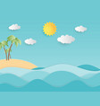 creative summer background concept paper cut vector image vector image