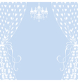 curtains and chandelier vector image vector image