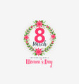 cute 8th march happy womens day background vector image