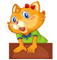 cute cat isolated on white vector image vector image