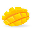 cutted cube mango icon cartoon style vector image vector image