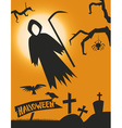death Halloween vector image
