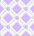 Diagonal purple checked squares pattern vector image