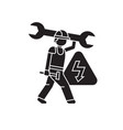 electrical engineering black concept icon vector image vector image