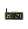 electronic alarm clock flat vector image