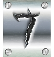 figure cut out in metal vector image vector image