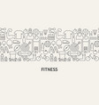 fitness banner concept vector image