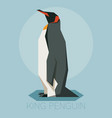 flat king penguin vector image vector image