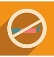 Flat with shadow icon and mobile application vector image vector image