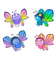 Four funny butterflies vector image