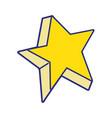 full color cute bright star art design vector image vector image