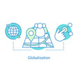 globalization concept icon vector image