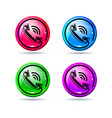 glossy buttons with handset telephone vector image