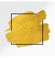 gold paint stroke with border frame vector image vector image