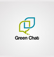 green chat logo icon template and element vector image
