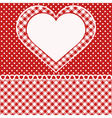 Greetings card with heart vector image vector image