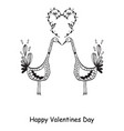 hand drawn valentines day ornaments abstract icon vector image vector image