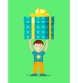 Happy Child with Presents Flat vector image vector image