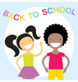 happy kids back to school vector image
