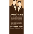 homosexual wedding vector image vector image
