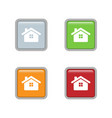 house icon set on square colorful internet button vector image vector image