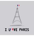 I love Paris card4 vector image
