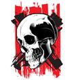 image evil skull vector image vector image