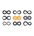 infinity symbols repetition and unlimited vector image vector image