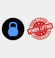 iron pound icon and scratched power lifting vector image vector image