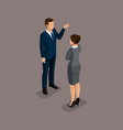 isometric 3d big business partnership negotiations vector image vector image
