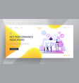 kpi data report key performance indicators with vector image vector image
