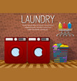laundry room interior with two washing machines vector image vector image