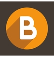 Letter B Logo Flat Icon Style vector image