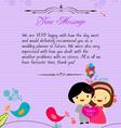 Letterhead valentines purple vector image vector image