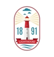 Marine lighthouse logo vector image vector image