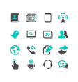 media and communication icons set dark gray and vector image