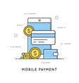 mobile payment online transactions and banking vector image