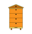 modern multi beehive icon color bee hive vector image