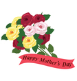 mothers day roses vector image vector image
