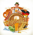 munich beer festival oktoberfest can also be vector image